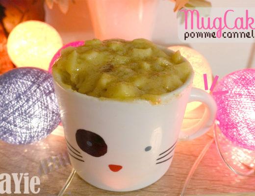 recette mugcake pomme cannelle